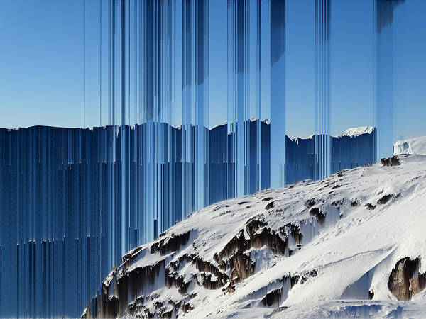 Wall Art - Photograph - Glitched Image - Greenland 4 by GLASSLABS by Susanne Layla Petersen