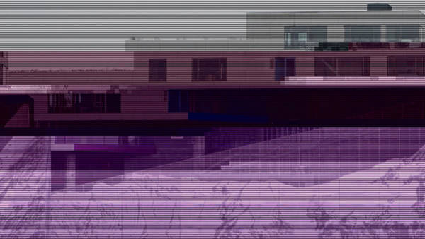 Wall Art - Photograph - Glitched Image - Vm-bjerget 2 by GLASSLABS by Susanne Layla Petersen