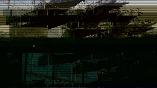 Wall Art - Photograph - Glitched Image - Vm-husene 4 by GLASSLABS by Susanne Layla Petersen