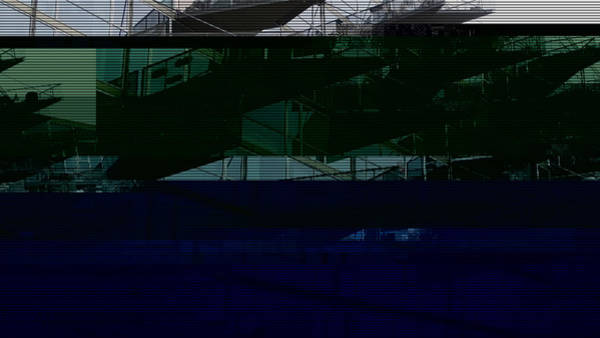 Wall Art - Photograph - Glitched Image - Vm-husene 5 by GLASSLABS by Susanne Layla Petersen