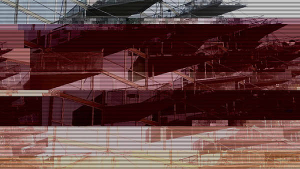 Wall Art - Photograph - Glitched Image - Vm-husene 2 by GLASSLABS by Susanne Layla Petersen