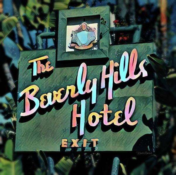 Glitzy Beverly Hills Hotel Art Print
