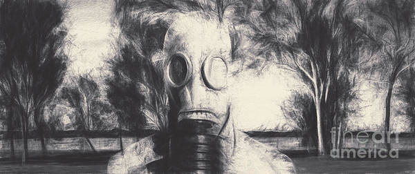 Radioactive Photograph - Vintage Gas Mask Terror by Jorgo Photography - Wall Art Gallery