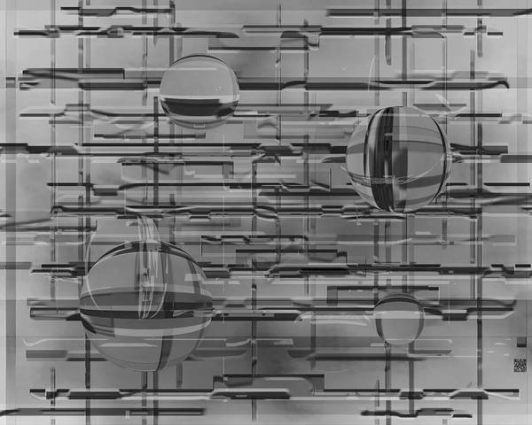 Digital Art - Globes - As Modern As It Gets by rd Erickson
