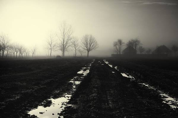 Gravel Road Photograph - Gloomily Morning by Mario Pejakovic