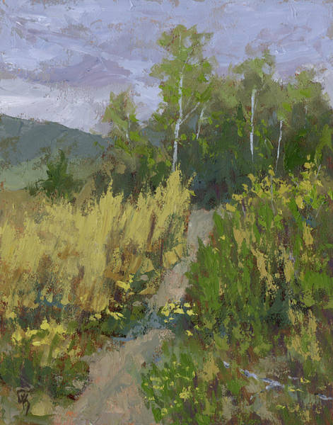 Painting - Gloomy Day Hike by David King