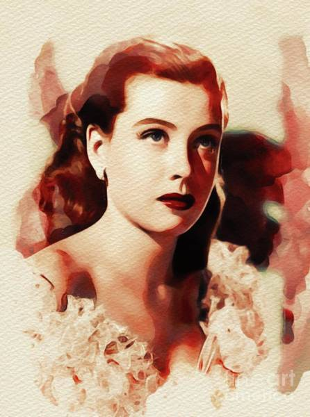 Gloria Wall Art - Painting - Gloria Dehaven, Hollywood Legend by Esoterica Art Agency