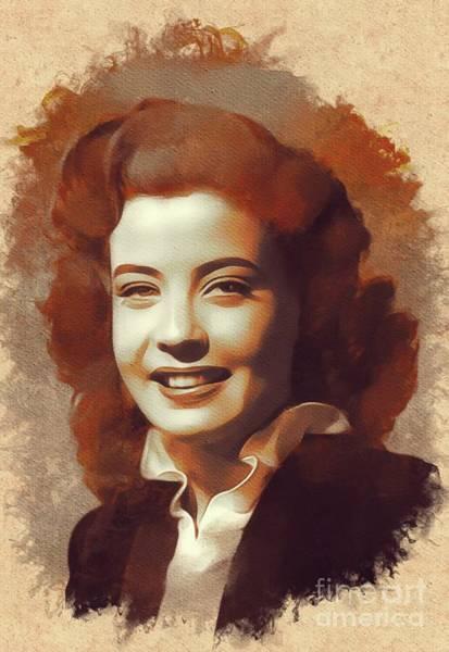 Gloria Wall Art - Painting - Gloria Dehaven, Hollywood Legend by Mary Bassett