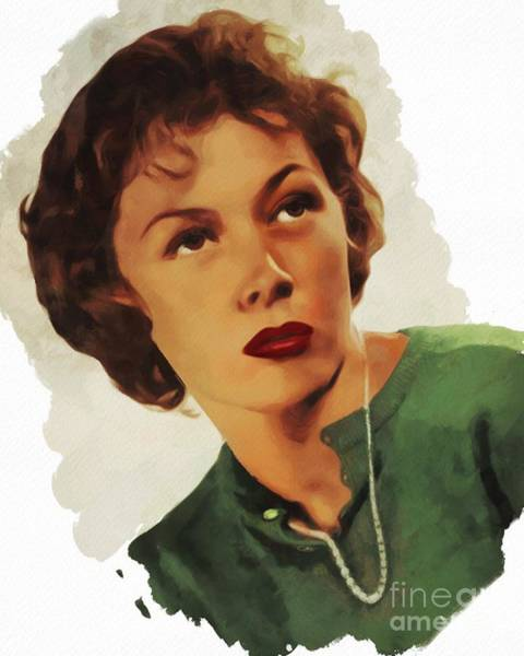 Gloria Wall Art - Painting - Gloria Grahame, Actress by Mary Bassett