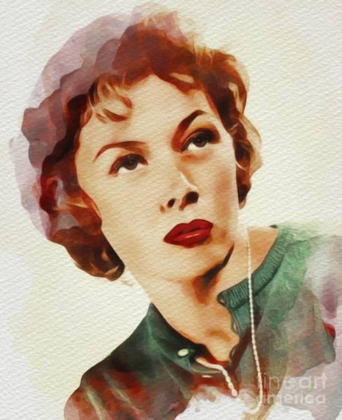 Gloria Wall Art - Painting - Gloria Grahame, Hollywood Legend by John Springfield