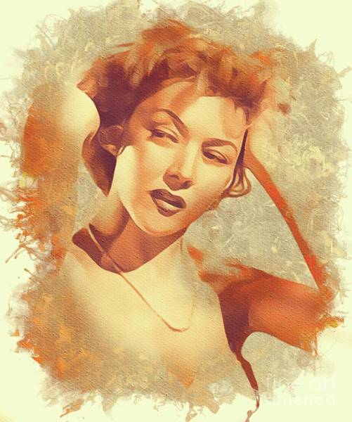 Gloria Wall Art - Painting - Gloria Grahame, Hollywood Legend by Mary Bassett