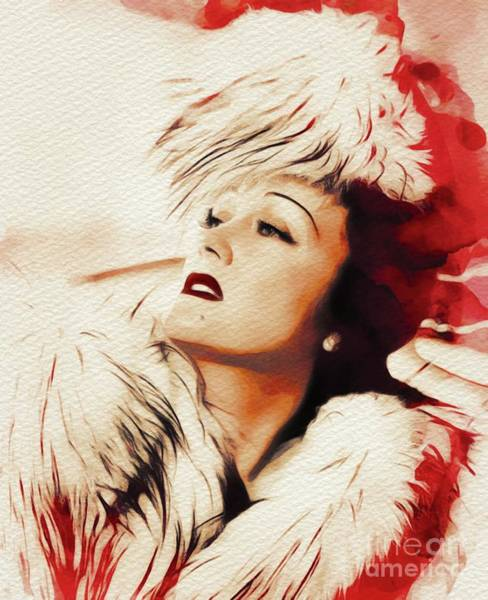 Gloria Wall Art - Painting - Gloria Swanson, Movie Legend by John Springfield