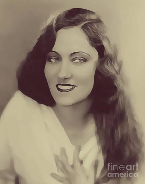 Gloria Wall Art - Digital Art - Gloria Swanson, Vintage Actress by John Springfield