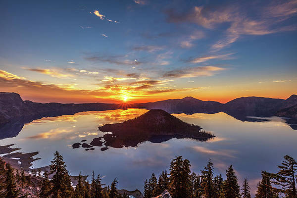 Photograph - Glorious Crater Lake Sunrise by Pierre Leclerc Photography