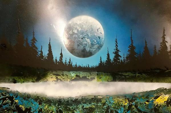 Wall Art - Painting - Glorious Night by Willy Proctor