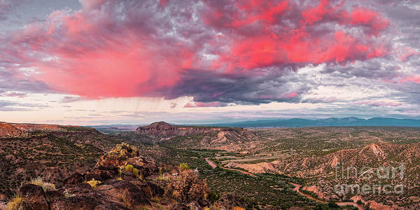 Land Of Enchantment Photograph - Glorious View Of Rio Grande, Sangre De Cristo And Black Mesa From White Rock Overlook - New Mexico by Silvio Ligutti