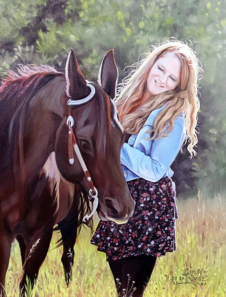 Horsemanship Painting - Glory And Grace by Jennifer Oakley-Delaplante