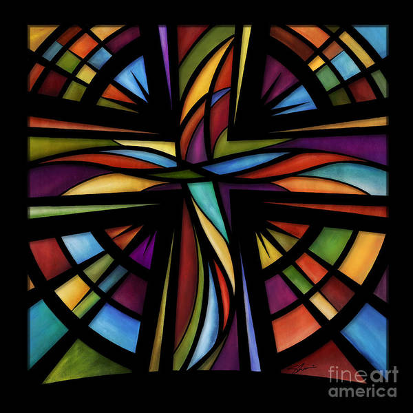 Stained Glass Wall Art - Mixed Media - Glory To God by Shevon Johnson