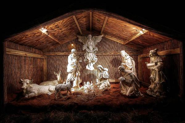 Photograph - Glory To The Newborn King by Shelley Neff