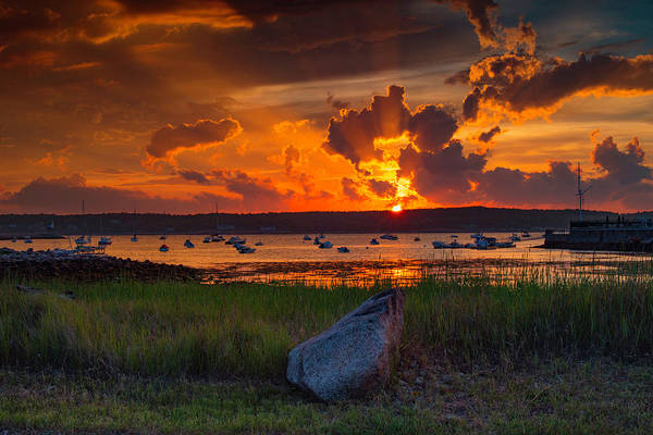 Photograph - Gloucester Harbor Sunset by John Forde