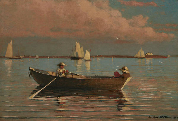 Homer Painting - Gloucester Harbor by Winslow Homer