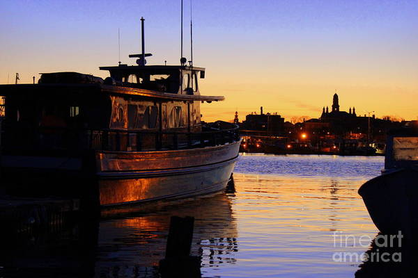 Wall Art - Photograph - Gloucester Twilight by Hanni Stoklosa