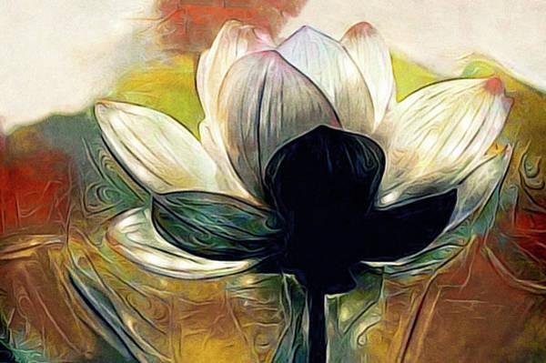 Mixed Media - Glow Lily by Susan Maxwell Schmidt