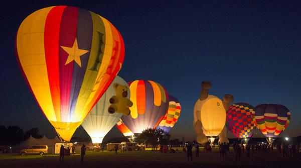 Balloon Festival Photograph - Glow by Robert Fawcett