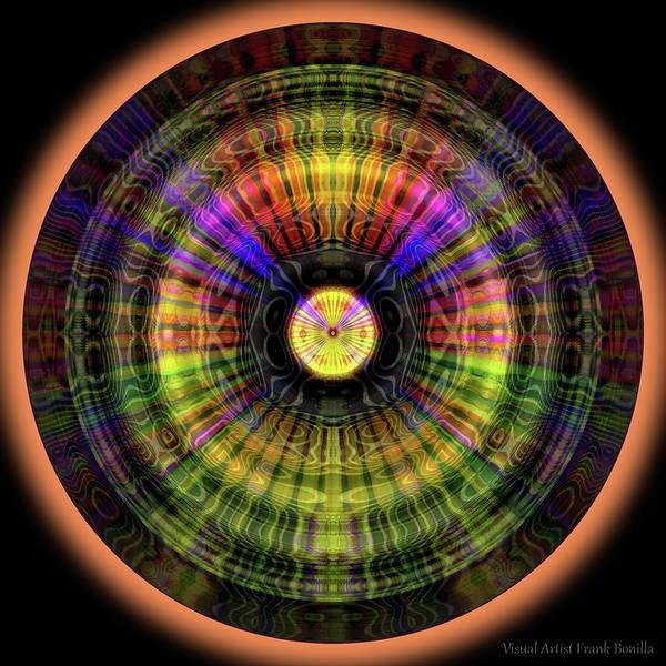 Digital Art - Glow Wheel Eight by Visual Artist Frank Bonilla
