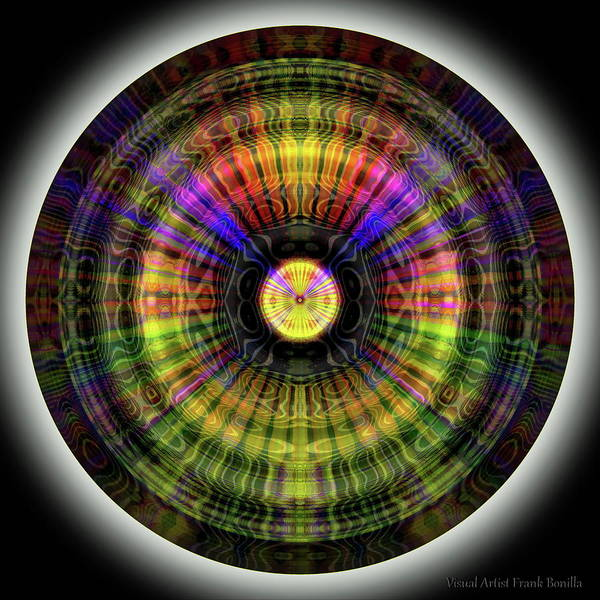 Digital Art - Glow Wheel Eleven by Visual Artist Frank Bonilla