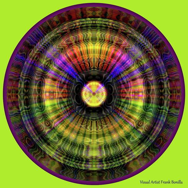 Digital Art - Glow Wheel Five by Visual Artist Frank Bonilla