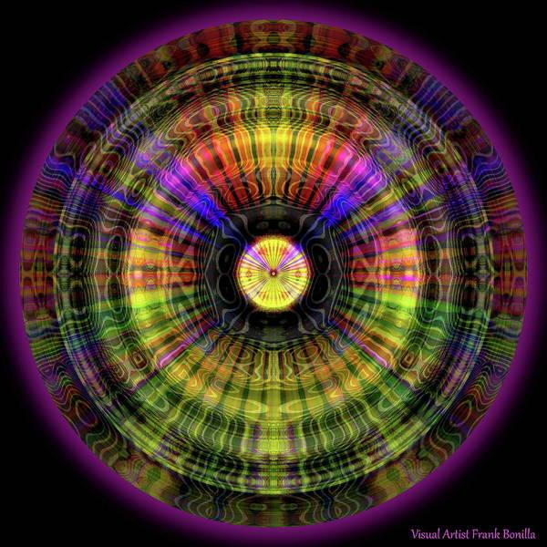 Digital Art - Glow Wheel Four by Visual Artist Frank Bonilla