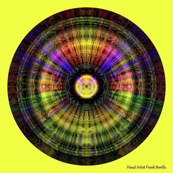 Digital Art - Glow Wheel Nine by Visual Artist Frank Bonilla