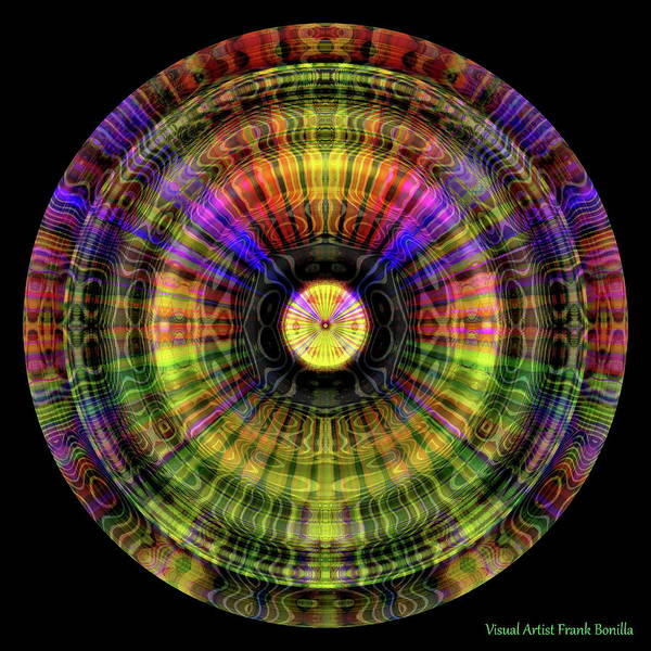Digital Art - Glow Wheel One by Visual Artist Frank Bonilla