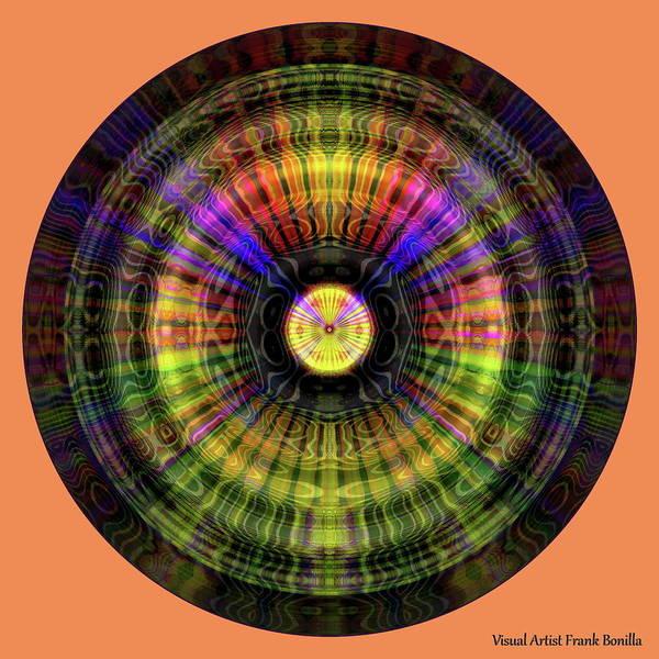Digital Art - Glow Wheel Seven by Visual Artist Frank Bonilla