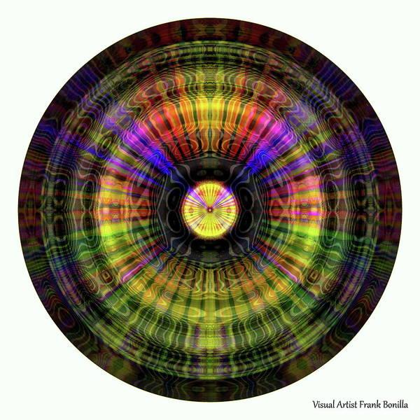 Digital Art - Glow Wheel Ten by Visual Artist Frank Bonilla