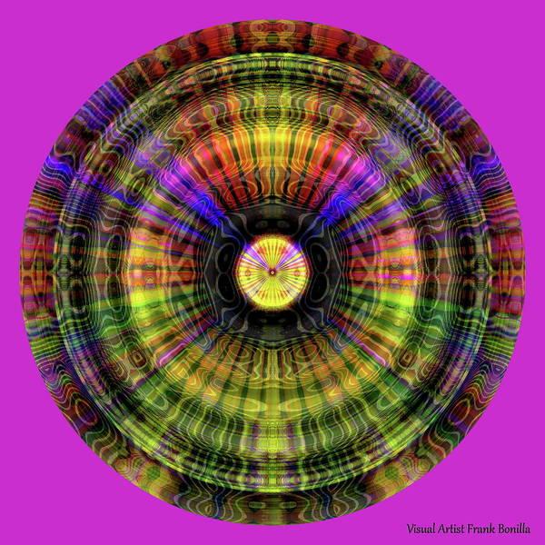 Digital Art - Glow Wheel Three by Visual Artist Frank Bonilla