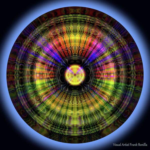 Digital Art - Glow Wheel Twelve by Visual Artist Frank Bonilla