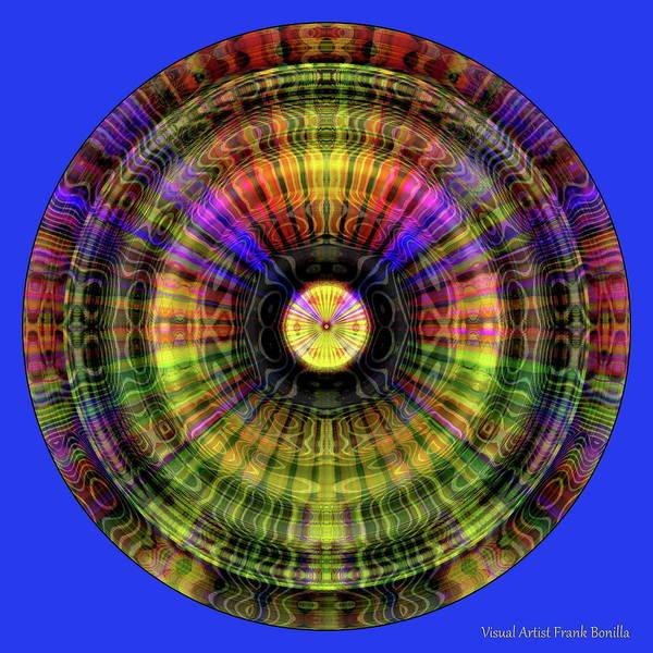 Digital Art - Glow Wheel Two by Visual Artist Frank Bonilla
