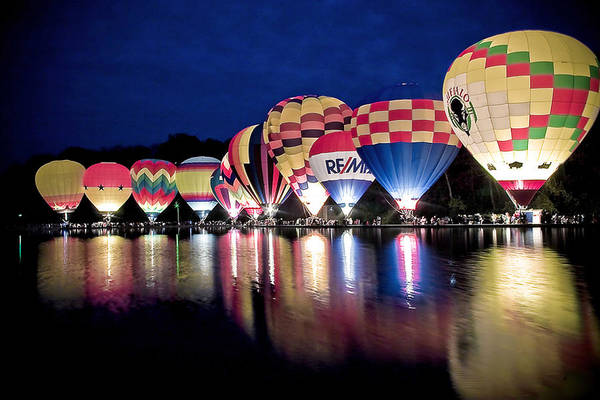Photograph - Glowing Balloons by Keith Allen