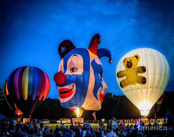 Photograph - Glowing Balloons by Nick Zelinsky