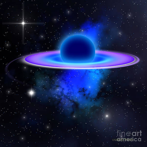 Wall Art - Painting - Glowing Black Hole  by Corey Ford
