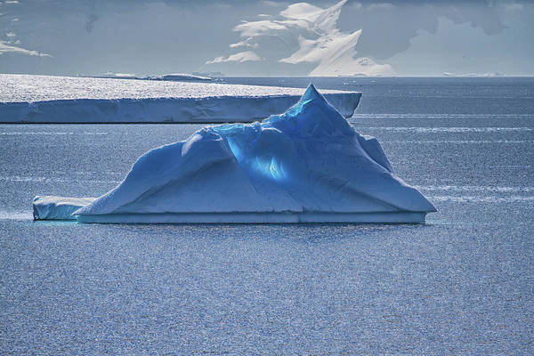 Holland America Line Wall Art - Photograph - Glowing Blue Ice by John Haldane