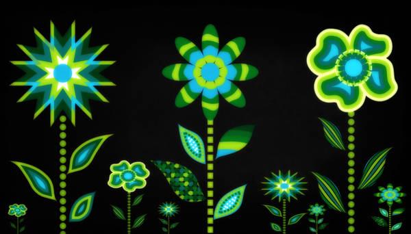Wall Art - Digital Art - Glowing Garden 1 by Angelina Tamez