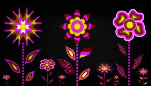 Wall Art - Digital Art - Glowing Garden 2 by Angelina Tamez