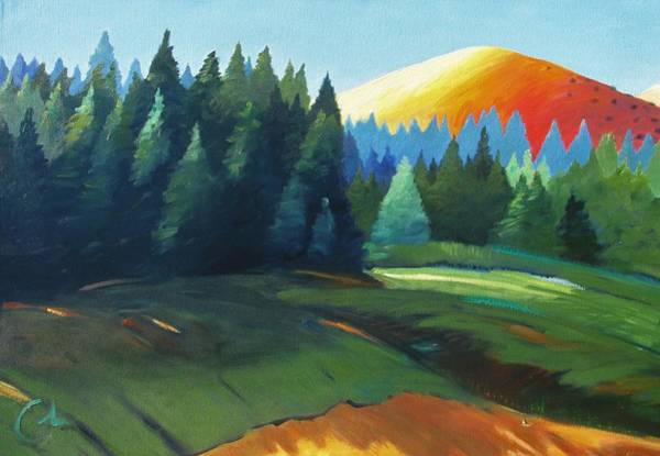 Silicon Valley Wall Art - Painting - Glowing Hill by Gary Coleman