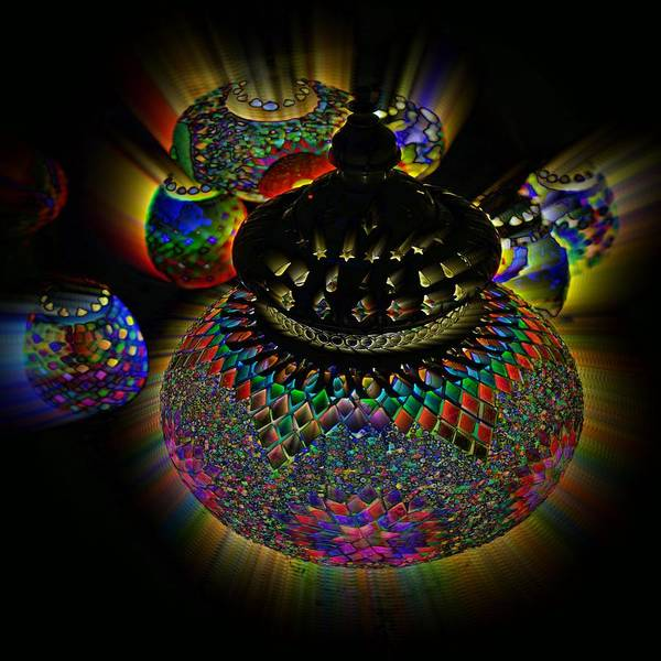 Photograph - Glowing Lanterns by Digital Art Cafe