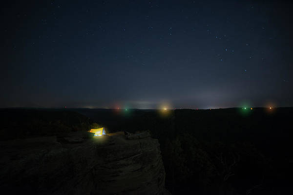 Photograph - Glowing Lights From A Tent by Dan Friend