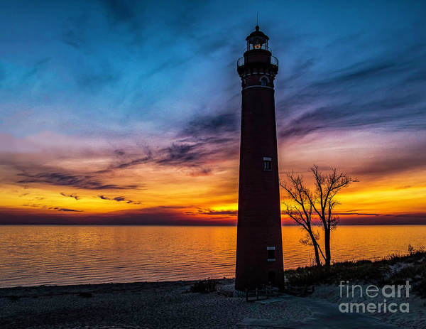 Photograph - Glowing Sky At Little Sable by Nick Zelinsky