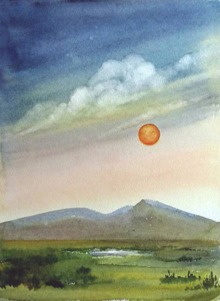 Painting - Glowing Sun by Asha Sudhaker Shenoy